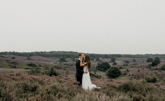 buiten trouwen op de hei