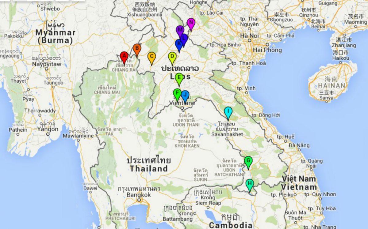 Kaart Laos