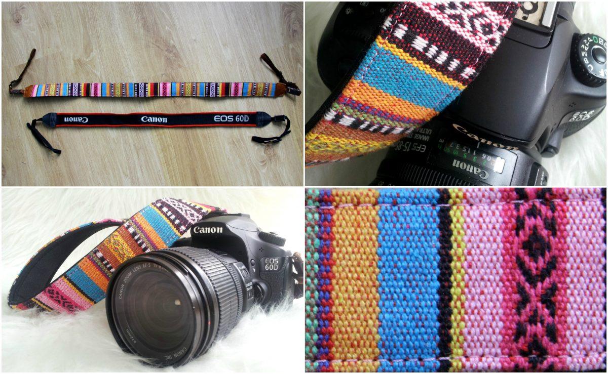 Mijn Canon EOS 60D met de nieuwe camerariem AfroKek