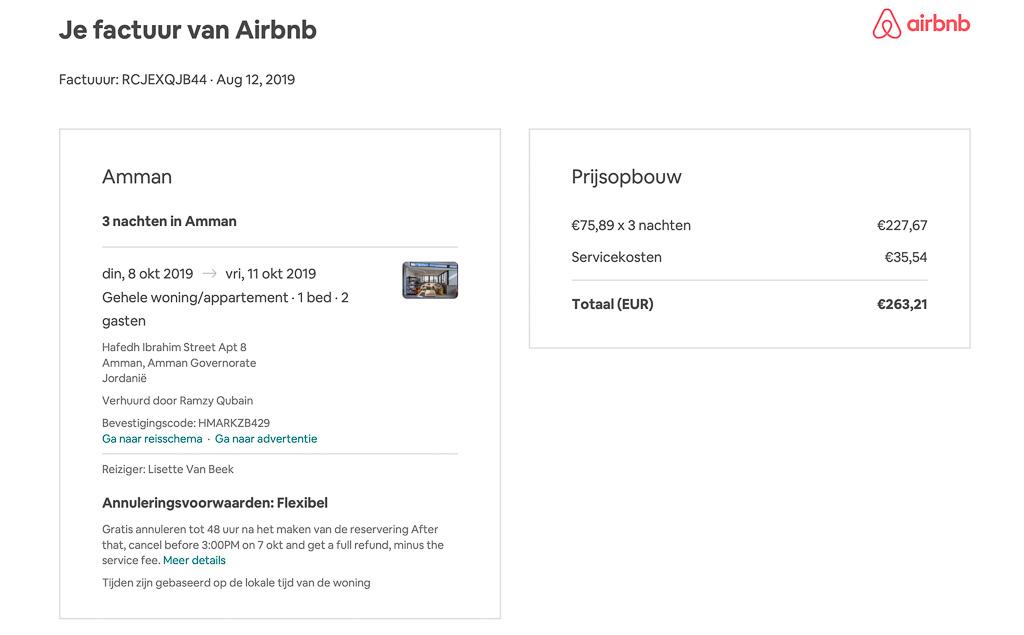 rechtszaak airbnb servicekosten
