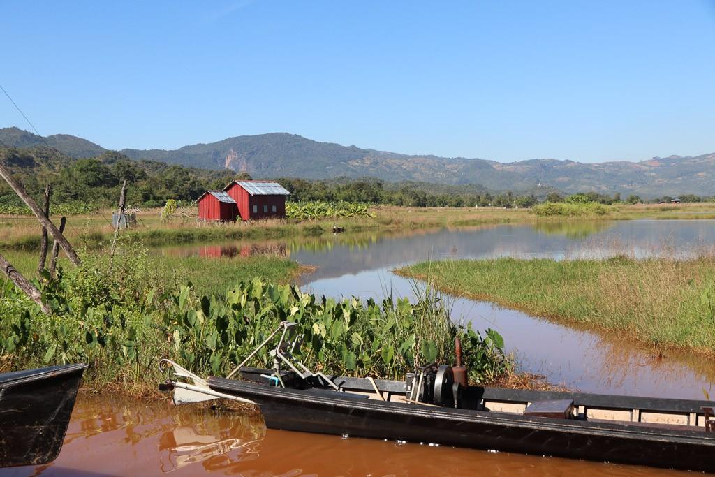 boot inle meer myanmar