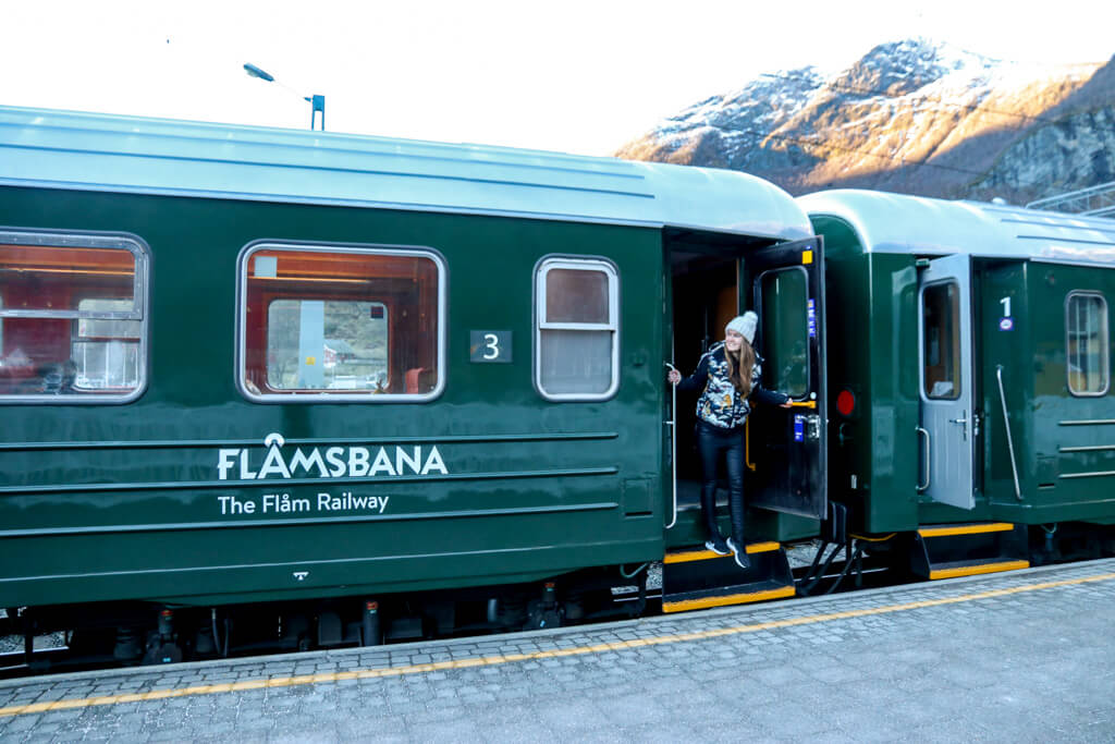 Flamsbana trein winter noorwegen