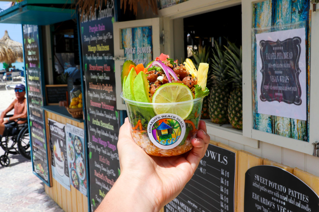 pokebowl aruba restaurant eduardo beach shack