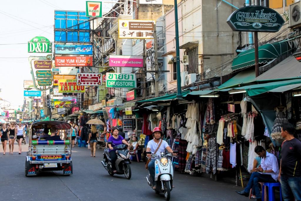 khao san road overdag