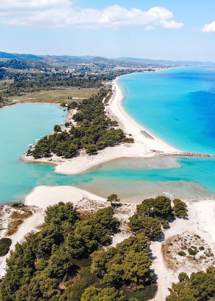 lagoon beach chalkidiki