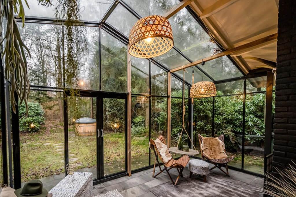 vakantiehuis met sauna en hottub