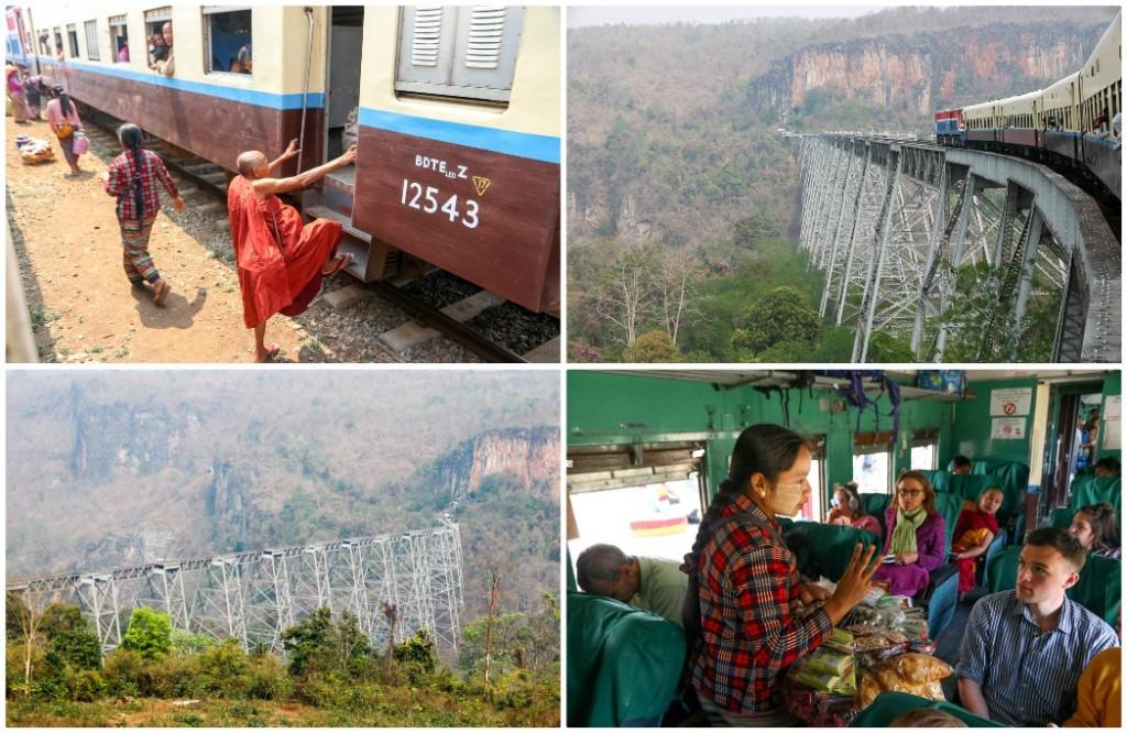route myanmar trein