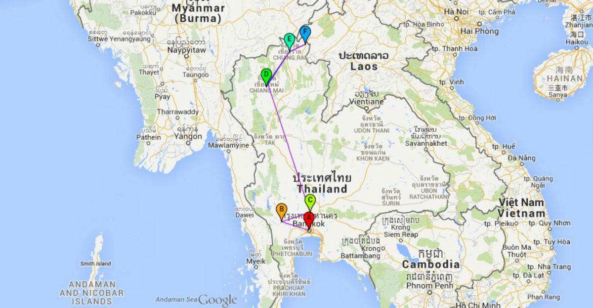 3 weken thailand route