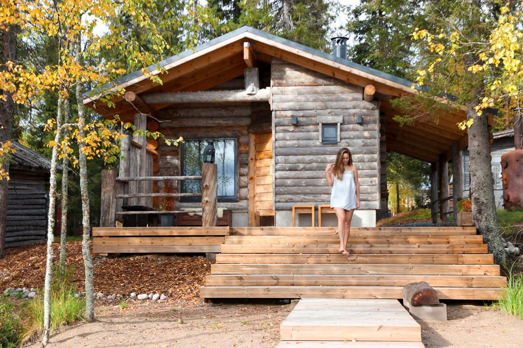 sauna in finland lapland in de zomer