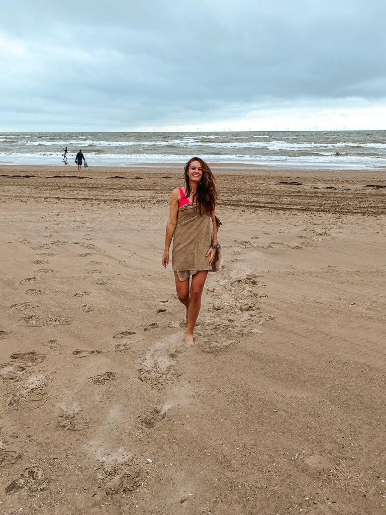 weekendje weg in de herfst strand