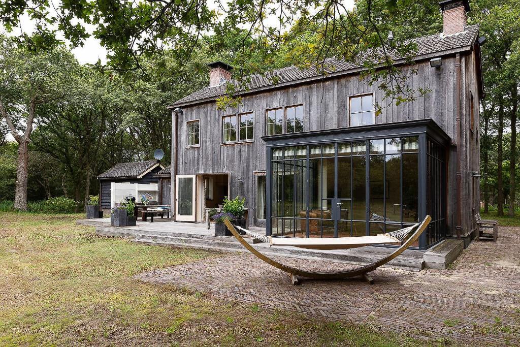 luxe vakantiehuisje in het bos