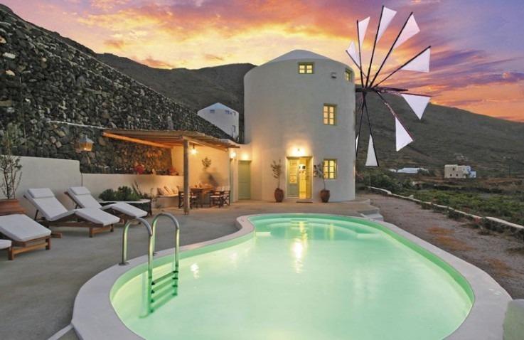 Bijzondere hotels Europa: Windmill Villas, Santorini, Griekenland